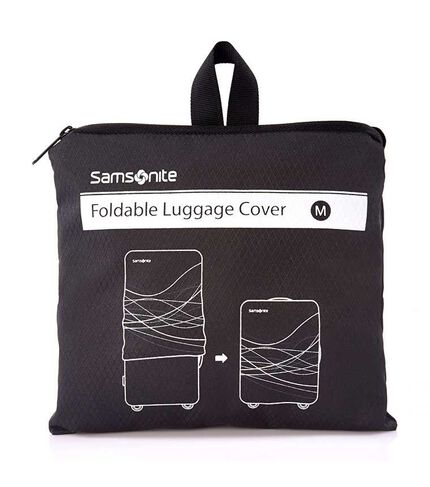 FOLDABLE LUGGAGE COVER M BLACK main | Samsonite