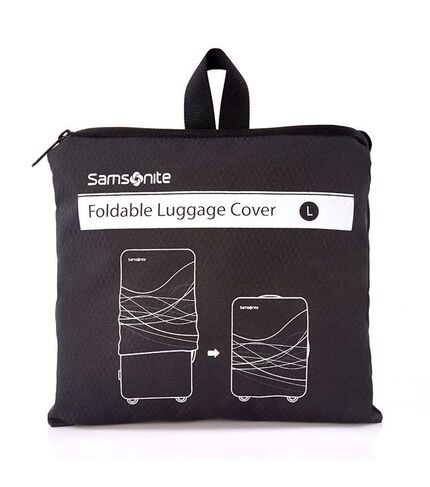FOLDABLE LUGGAGE COVER L BLACK main | Samsonite