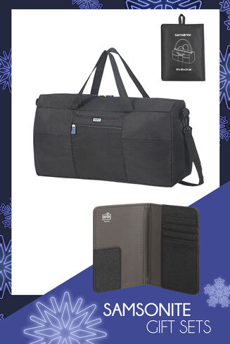 Travel Link Acc. Foldable Duffle and Travel Link Acc. Rfid Passport Cover Black main | Samsonite